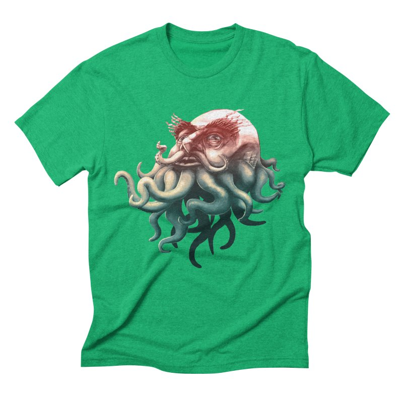 Tentacle Beard Men's Triblend T-Shirt by Paul Johnson's Artist Shop
