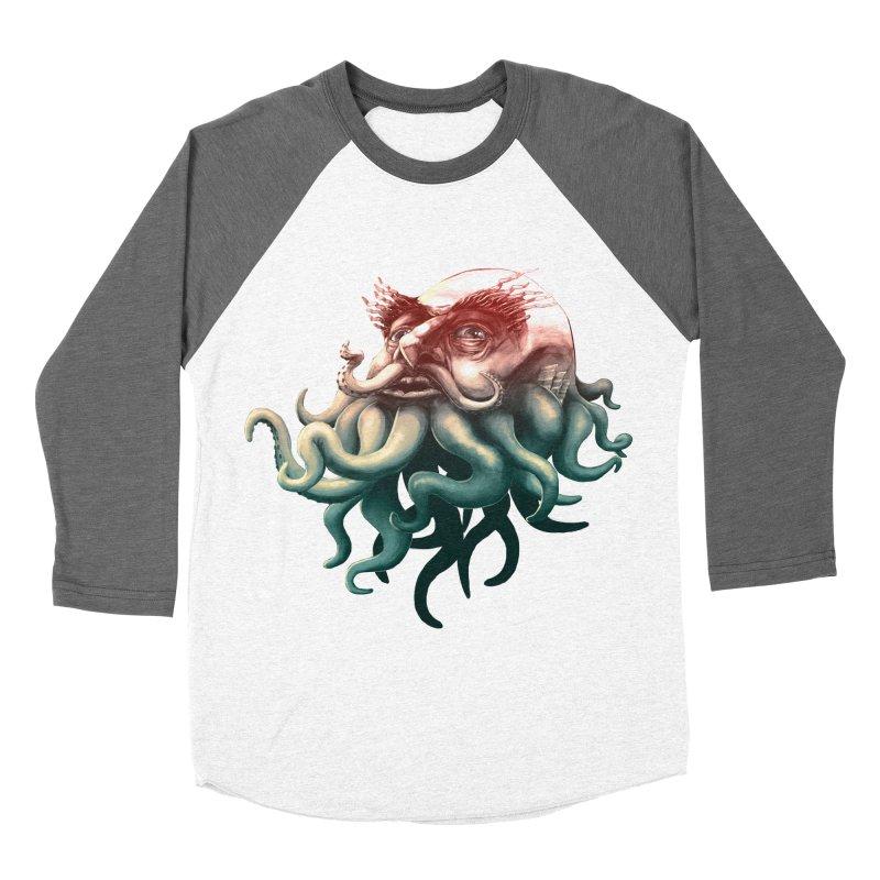 Tentacle Beard Women's Baseball Triblend T-Shirt by Paul Johnson's Artist Shop