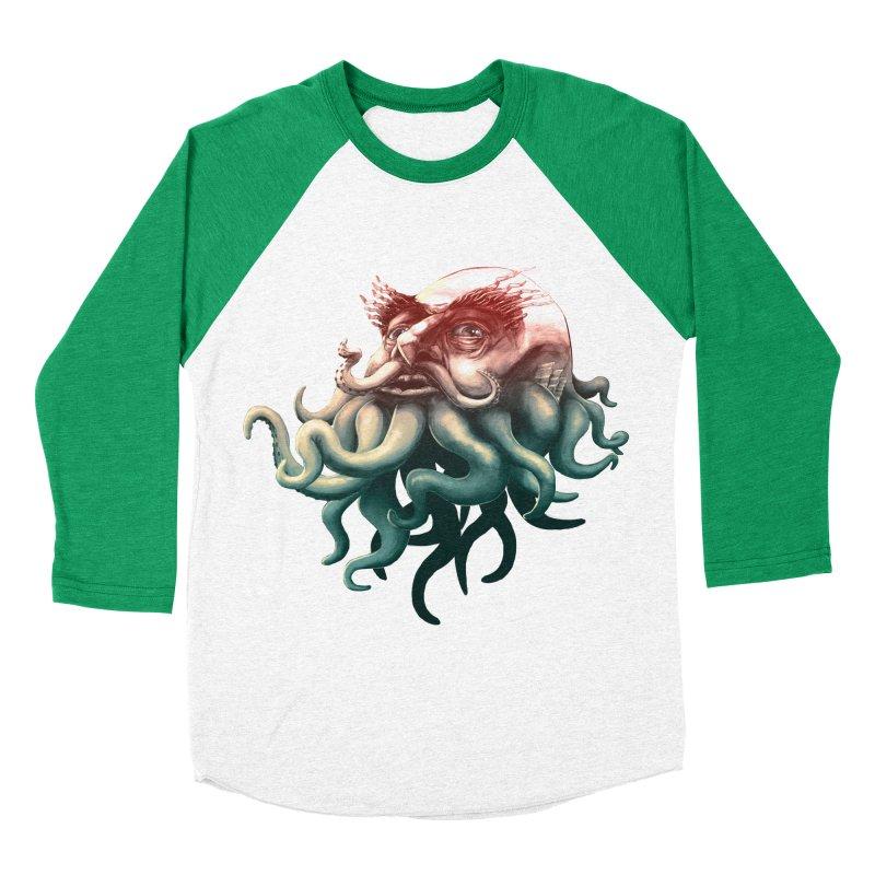 Tentacle Beard Men's Baseball Triblend T-Shirt by Paul Johnson's Artist Shop