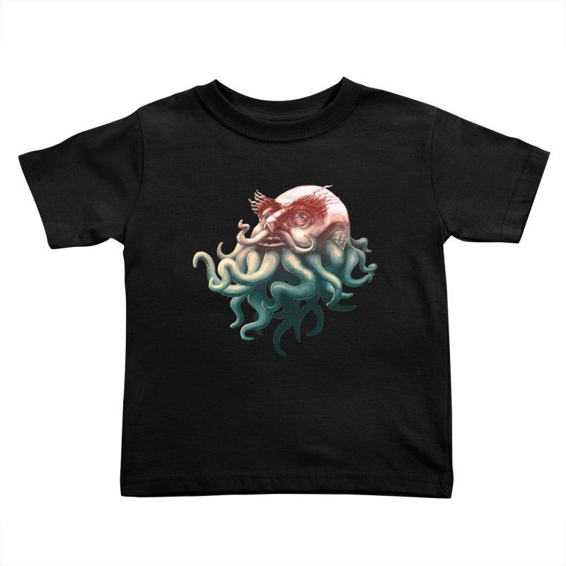 Tentacle Beard Kids Toddler T-Shirt by Paul Johnson's Artist Shop