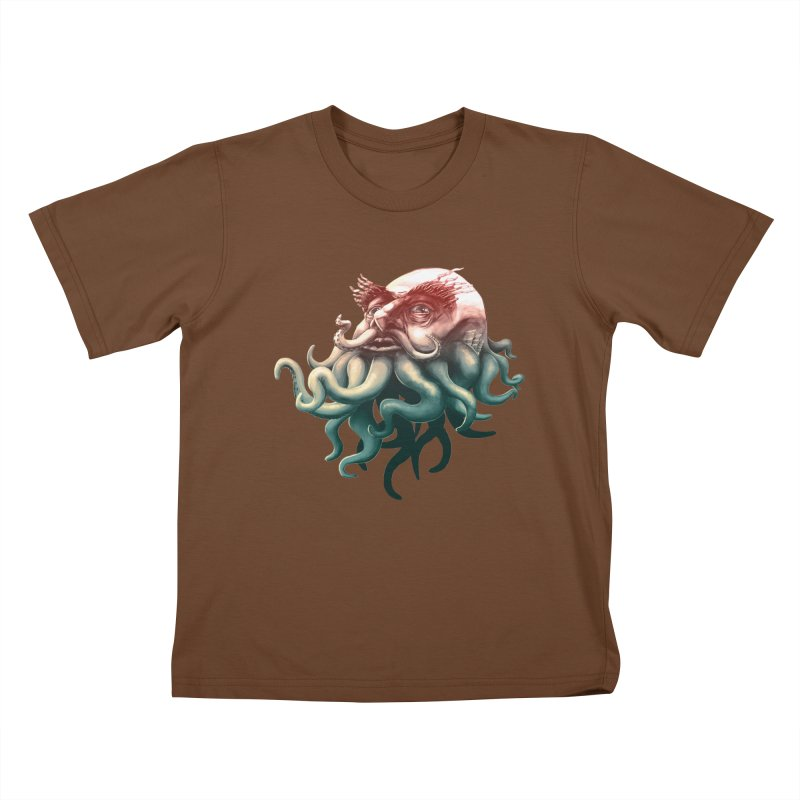 Tentacle Beard Kids T-Shirt by Paul Johnson's Artist Shop