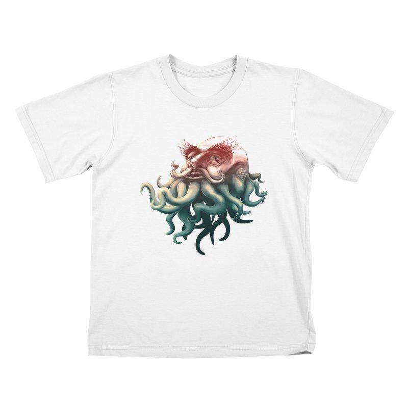Tentacle Beard Kids T-Shirt by Paul Johnson's Artist Shop