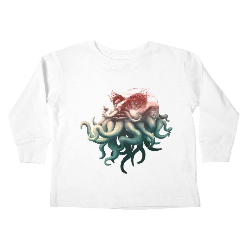 Tentacle Beard Kids Toddler Longsleeve T-Shirt by Paul Johnson's Artist Shop
