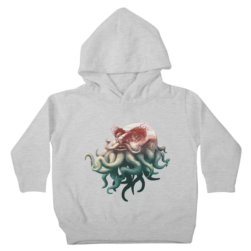 Tentacle Beard Kids Toddler Pullover Hoody by Paul Johnson's Artist Shop