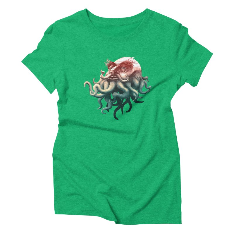 Tentacle Beard Women's Triblend T-Shirt by Paul Johnson's Artist Shop