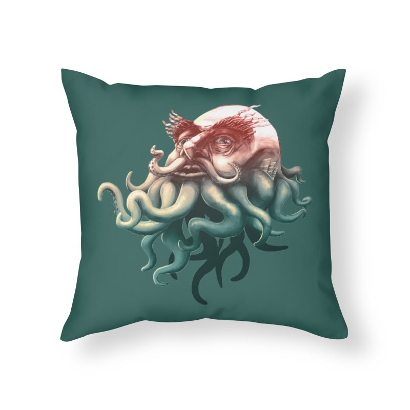 Tentacle Beard Home Throw Pillow by Paul Johnson's Artist Shop