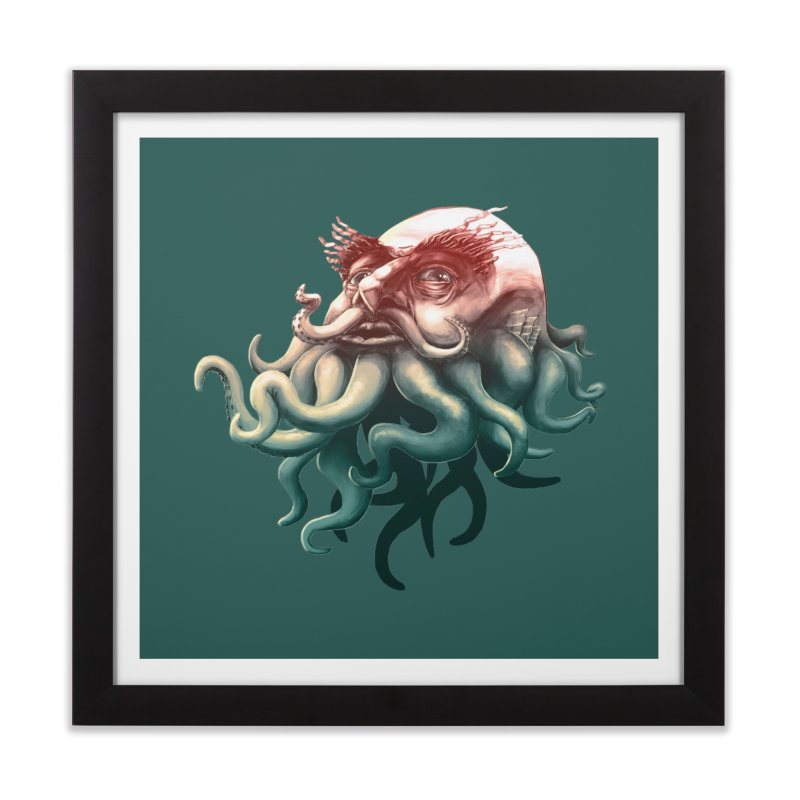 Tentacle Beard Home Framed Fine Art Print by Paul Johnson's Artist Shop