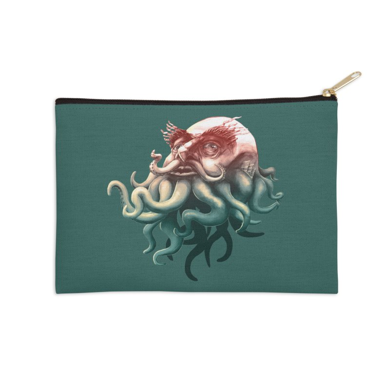 Tentacle Beard Accessories Zip Pouch by Paul Johnson's Artist Shop