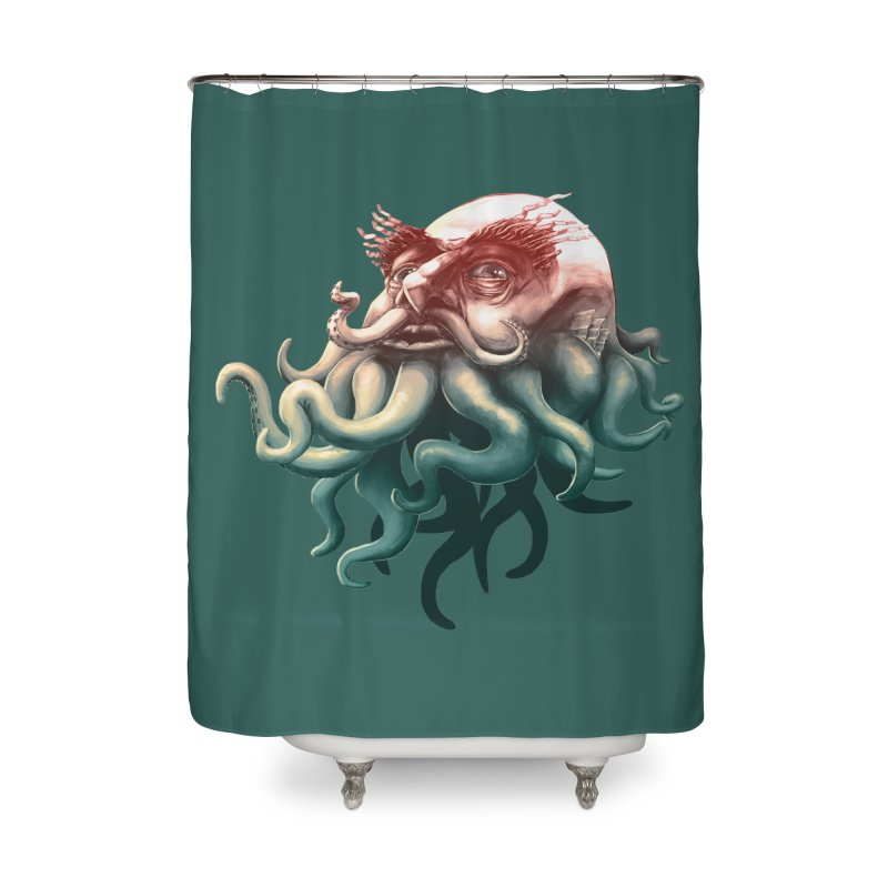 Tentacle Beard Home Shower Curtain by Paul Johnson's Artist Shop