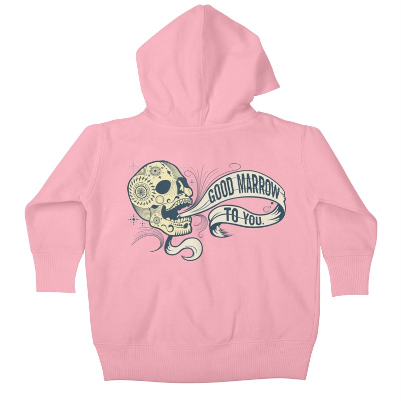Good Marrow to You Kids Baby Zip-Up Hoody by Paul Johnson's Artist Shop