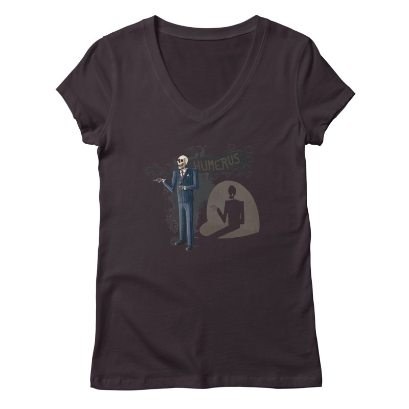 Humerus Women's V-Neck by Paul Johnson's Artist Shop