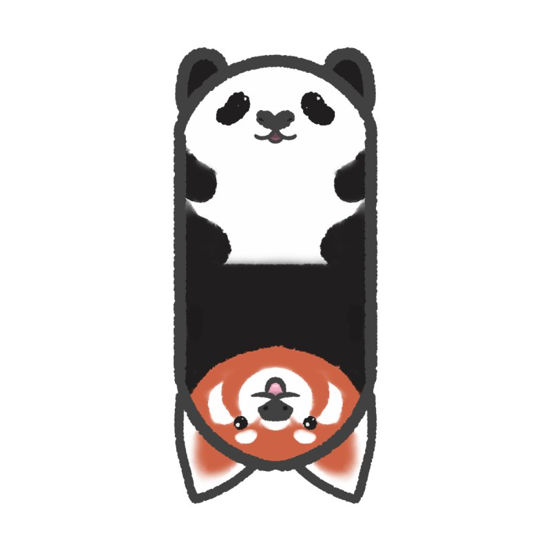 Flipimals: Panda Red Panda Kids Longsleeve T-Shirt by Pawgyle