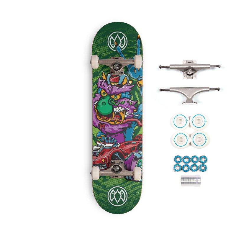 Pet Monster - Skateboard Accessories Skateboard by Payback Penguin