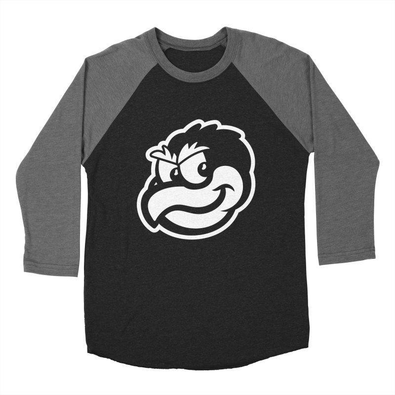 Payback Penguin Mascot Men's Baseball Triblend T-Shirt by Payback Penguin