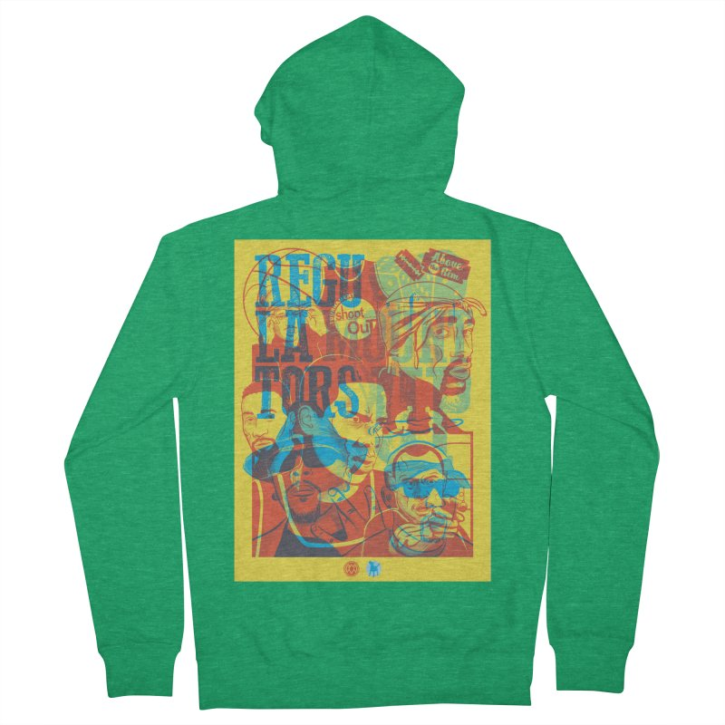 Above the Rim / Regulators Women's French Terry Zip-Up Hoody by Payback Penguin