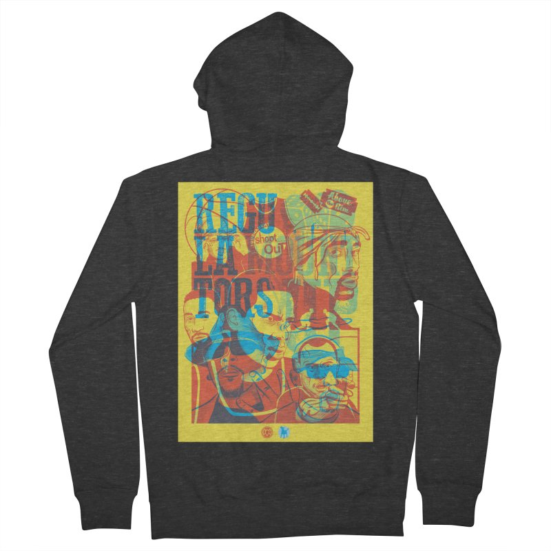 Above the Rim / Regulators Men's French Terry Zip-Up Hoody by Payback Penguin