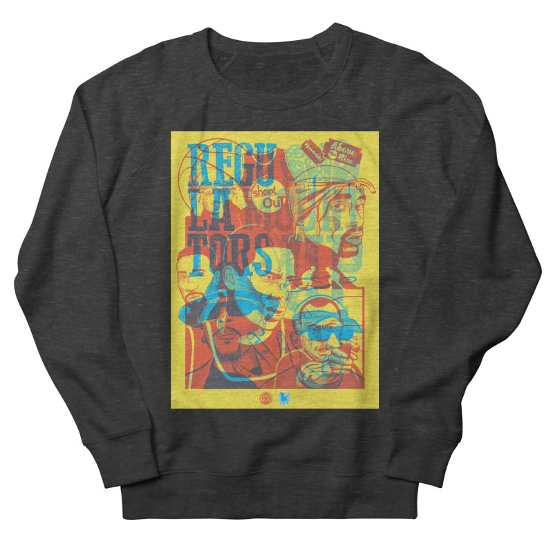 Above the Rim / Regulators Men's French Terry Sweatshirt by Payback Penguin