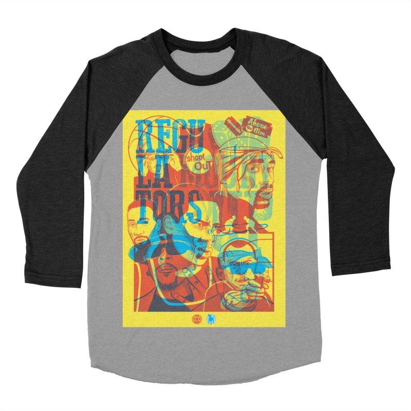 Above the Rim / Regulators Women's Baseball Triblend T-Shirt by Payback Penguin