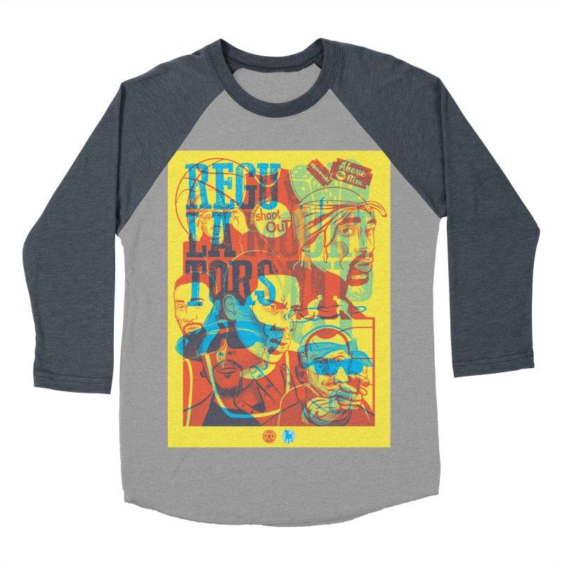 Above the Rim / Regulators Men's Baseball Triblend Longsleeve T-Shirt by Payback Penguin