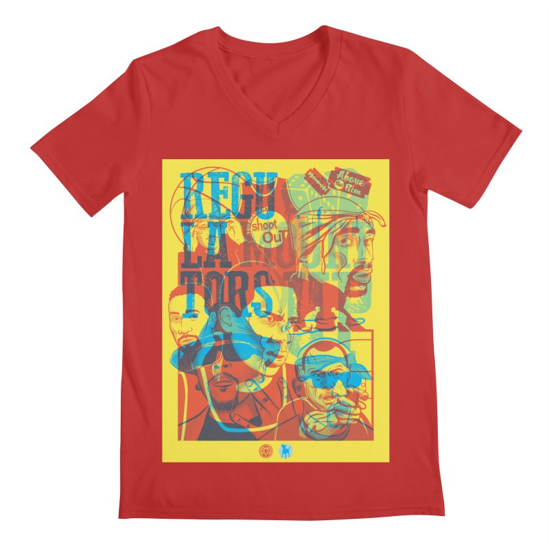 Above the Rim / Regulators Men's V-Neck by Payback Penguin