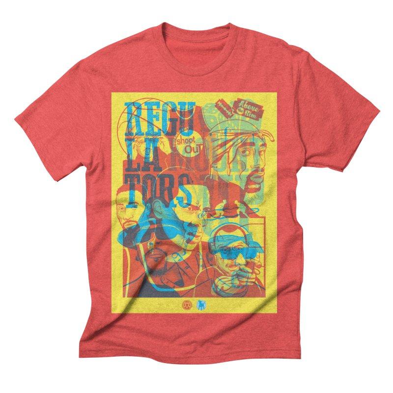 Above the Rim / Regulators Men's Triblend T-shirt by Payback Penguin