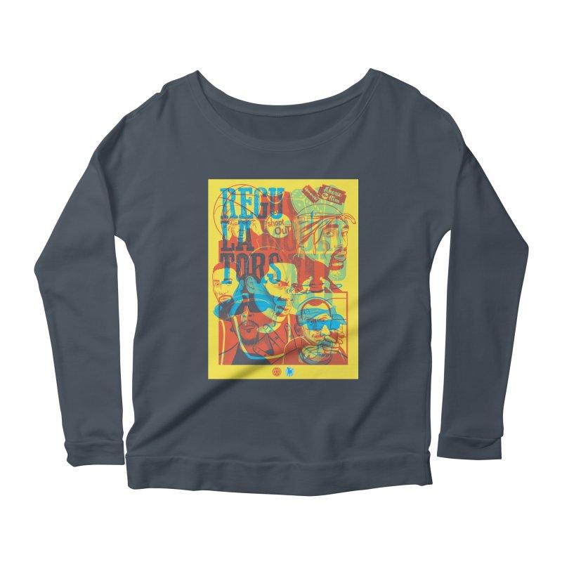 Above the Rim / Regulators Women's Scoop Neck Longsleeve T-Shirt by Payback Penguin