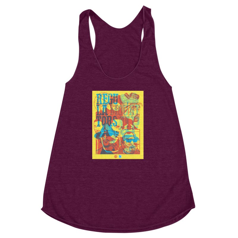 Above the Rim / Regulators Women's Racerback Triblend Tank by Payback Penguin