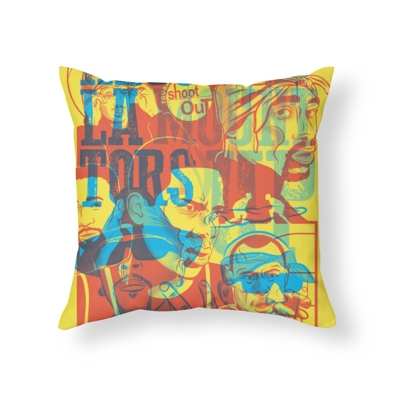 Above the Rim / Regulators in Throw Pillow by Payback Penguin