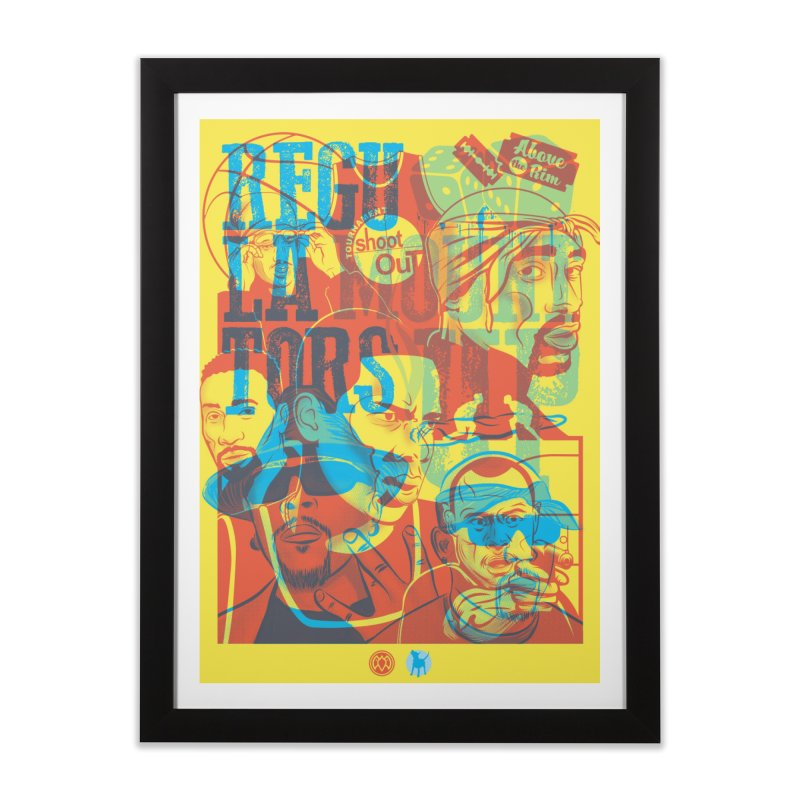 Above the Rim / Regulators Home Framed Fine Art Print by Payback Penguin