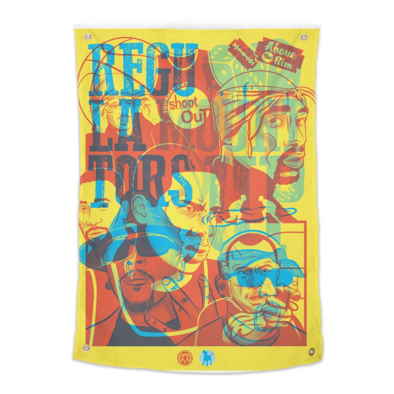 Above the Rim / Regulators Home Tapestry by Payback Penguin