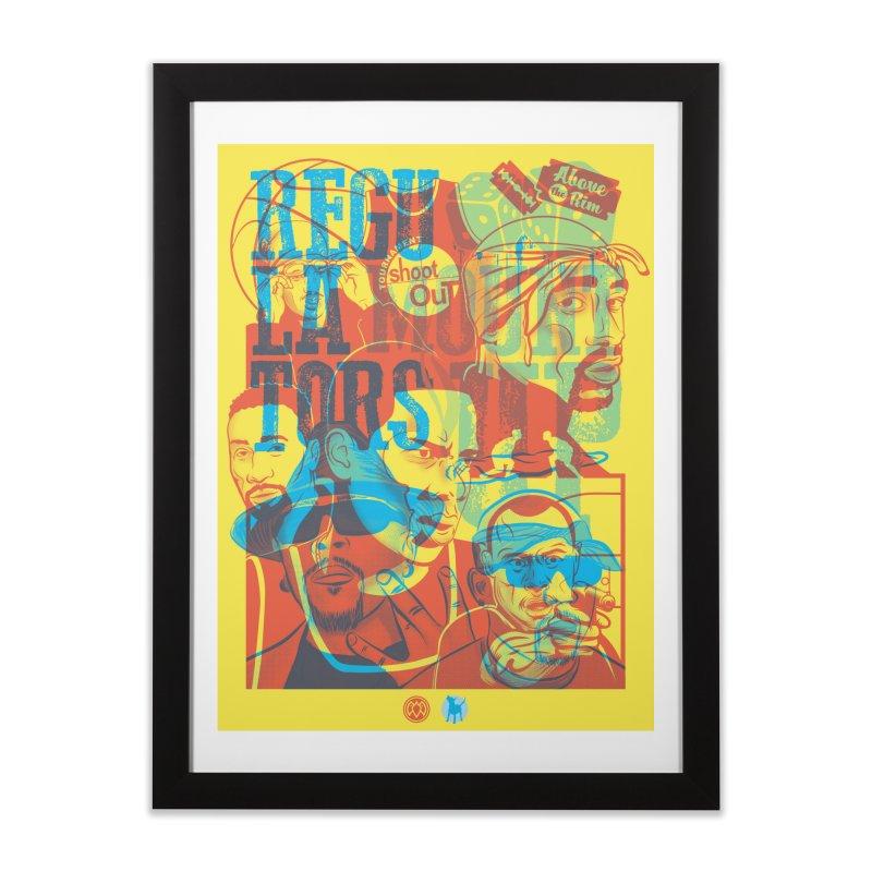 Above the Rim / Regulators Home Framed Fine Art Print by Payback Penguin