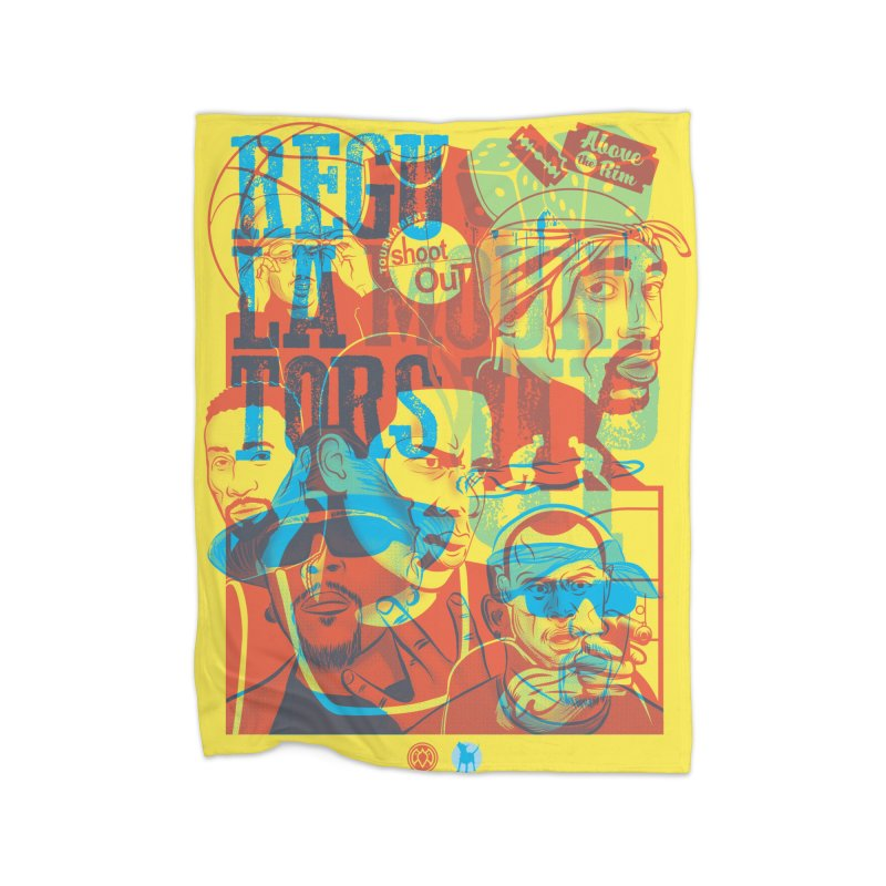 Above the Rim / Regulators Home Blanket by Payback Penguin