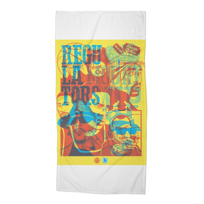 Above the Rim / Regulators Accessories Beach Towel by Payback Penguin