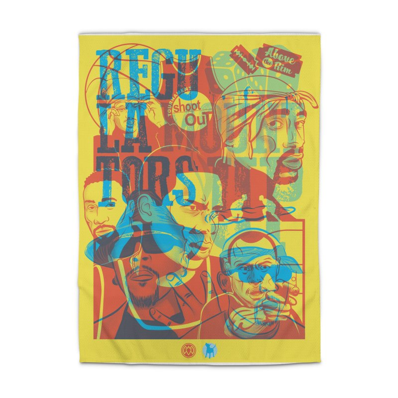 Above the Rim / Regulators Home Rug by Payback Penguin