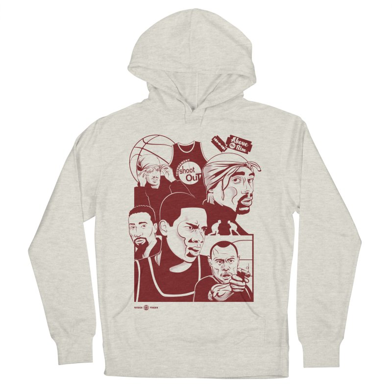 Above the Rim - Red Women's Pullover Hoody by Payback Penguin