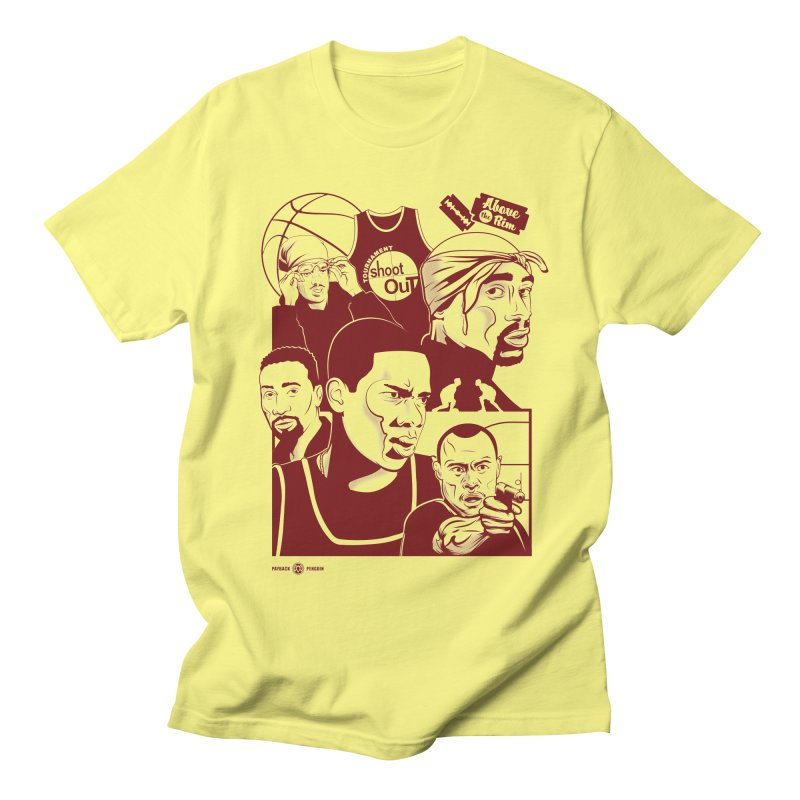 Above the Rim - Red Men's T-shirt by Payback Penguin