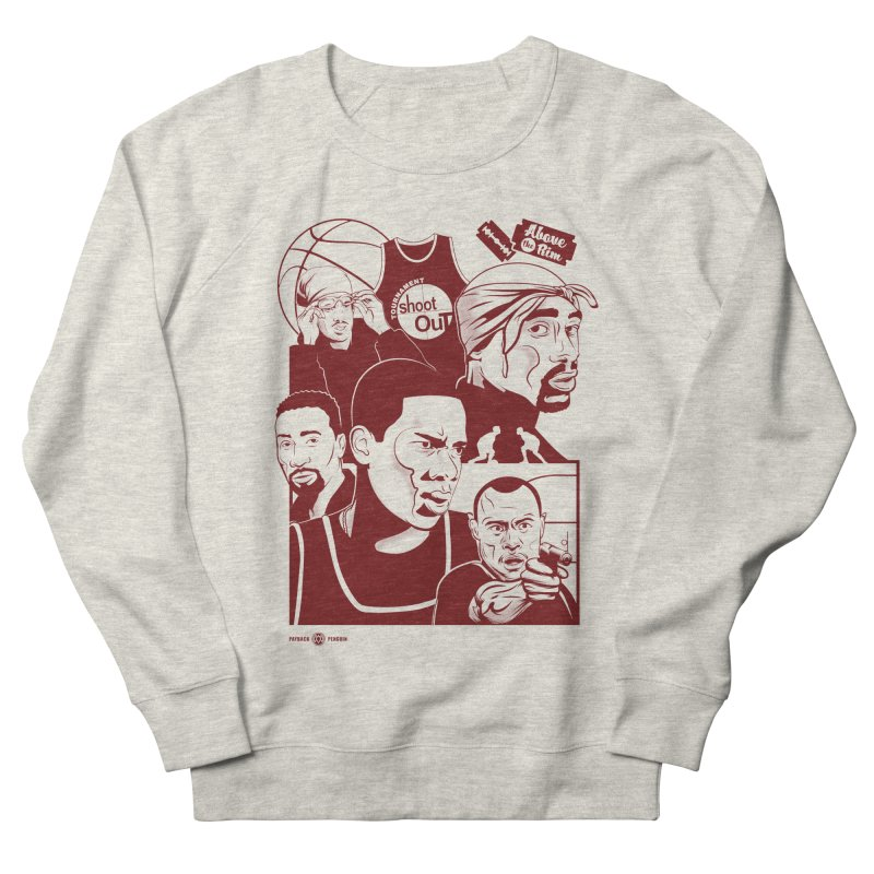 Above the Rim - Red Men's Sweatshirt by Payback Penguin