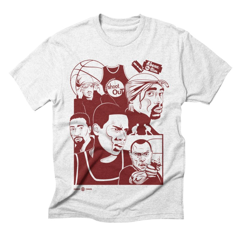Above the Rim - Red Men's Triblend T-shirt by Payback Penguin