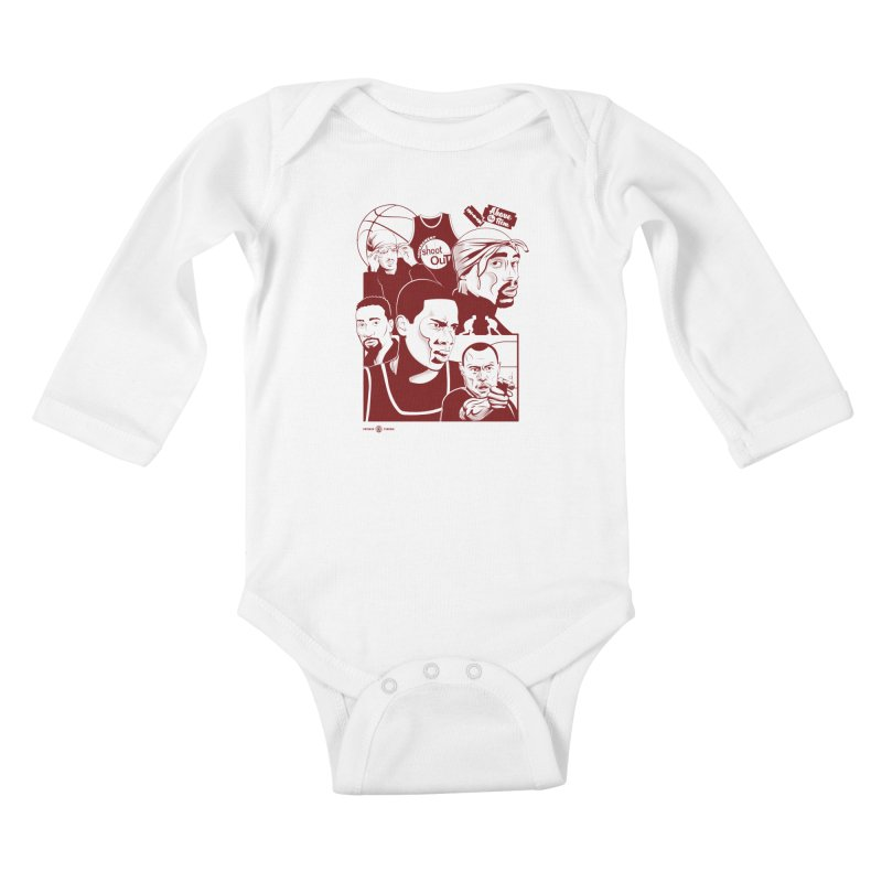 Above the Rim - Red Kids Baby Longsleeve Bodysuit by Payback Penguin