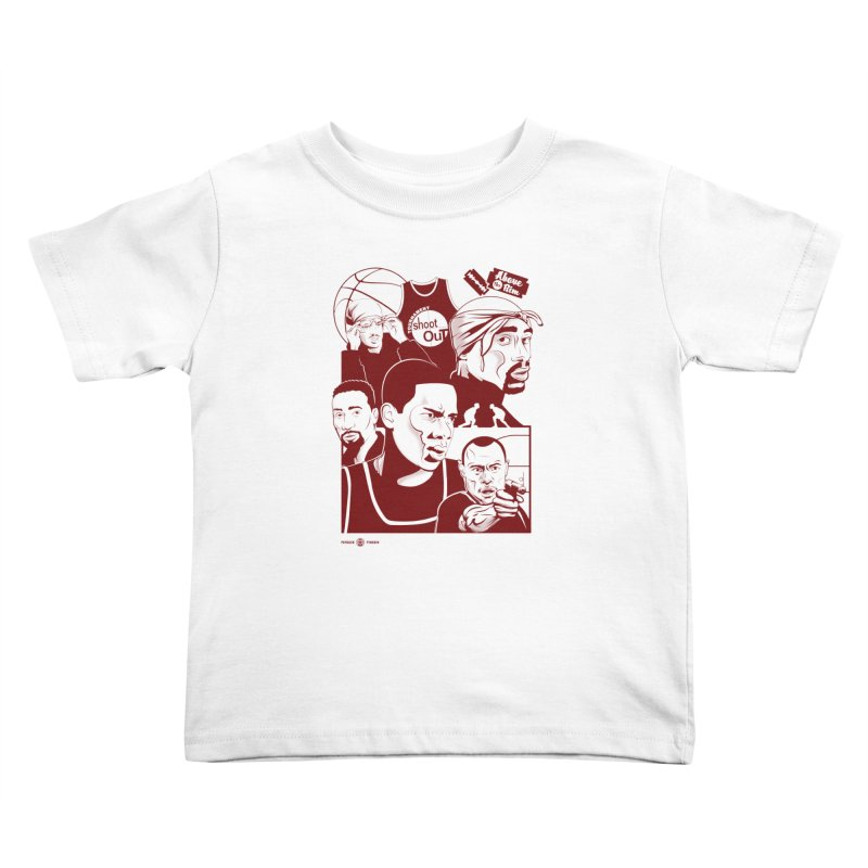 Above the Rim - Red Kids Toddler T-Shirt by Payback Penguin