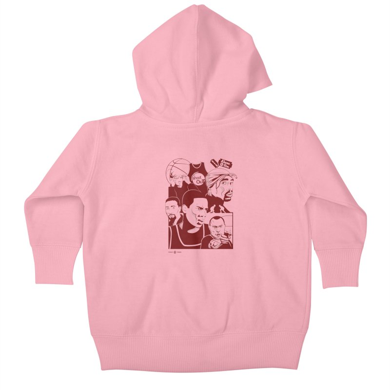 Above the Rim - Red Kids Baby Zip-Up Hoody by Payback Penguin