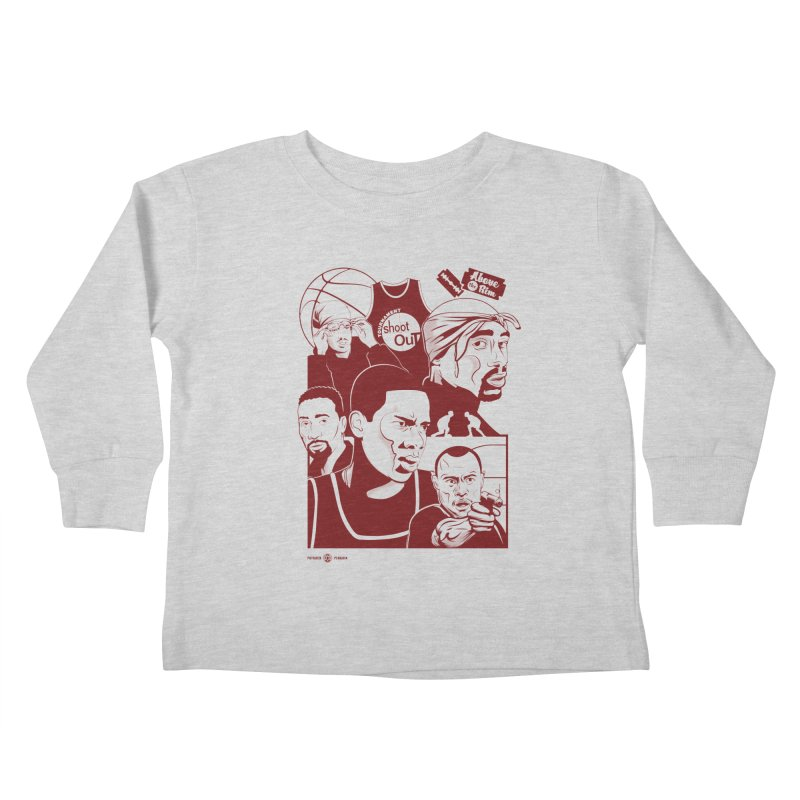Above the Rim - Red Kids Toddler Longsleeve T-Shirt by Payback Penguin