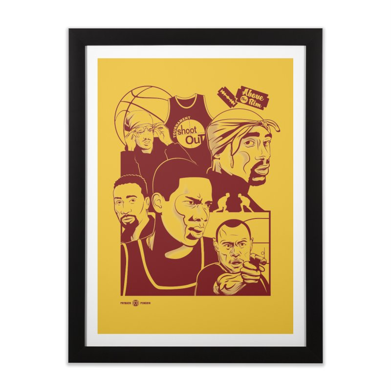 Above the Rim - Red Home Framed Fine Art Print by Payback Penguin