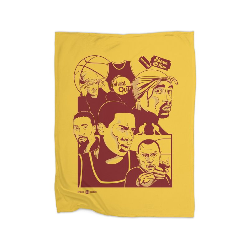 Above the Rim - Red Home Blanket by Payback Penguin