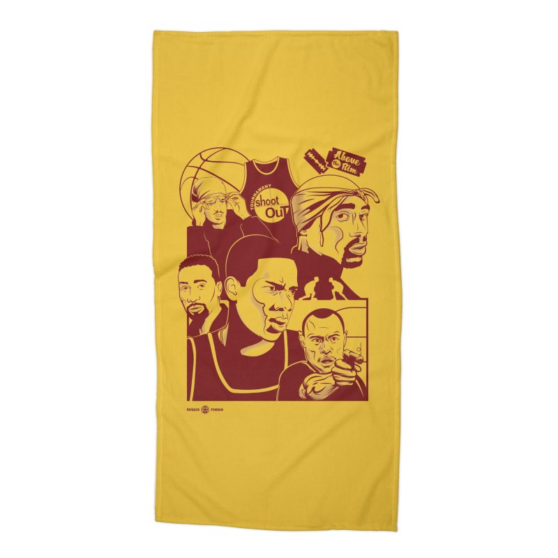 Above the Rim - Red Accessories Beach Towel by Payback Penguin