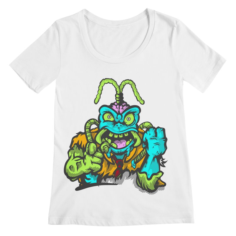Scum Bug Women's Scoopneck by Payback Penguin