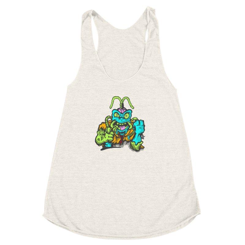 Scum Bug Women's Racerback Triblend Tank by Payback Penguin