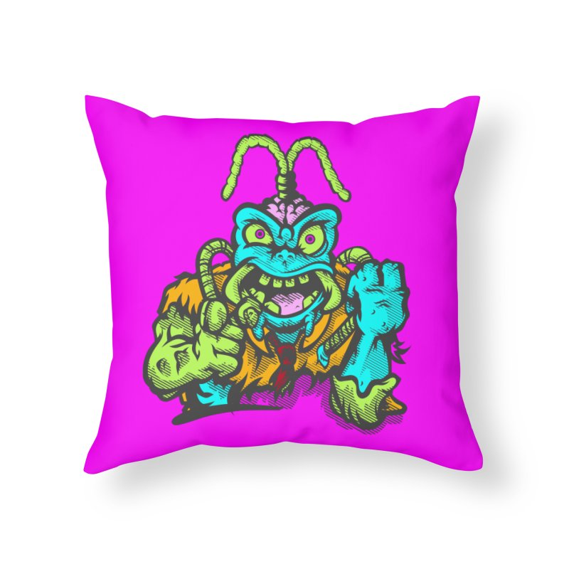Scum Bug Home Throw Pillow by Payback Penguin