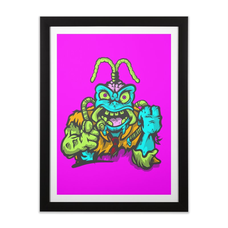 Scum Bug Home Framed Fine Art Print by Payback Penguin