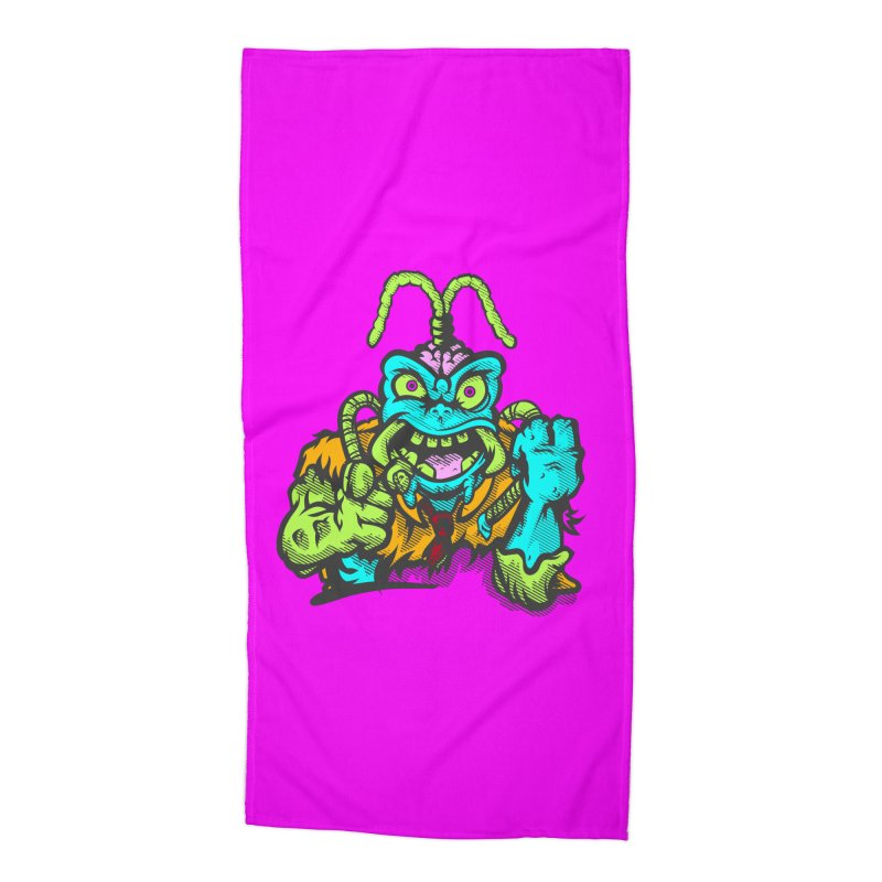 Scum Bug Accessories Beach Towel by Payback Penguin